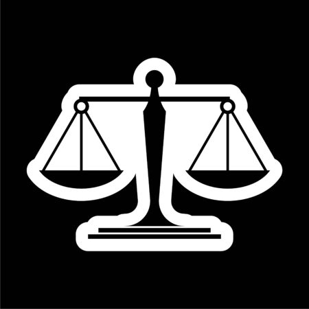 Scales of justice icon on dark background