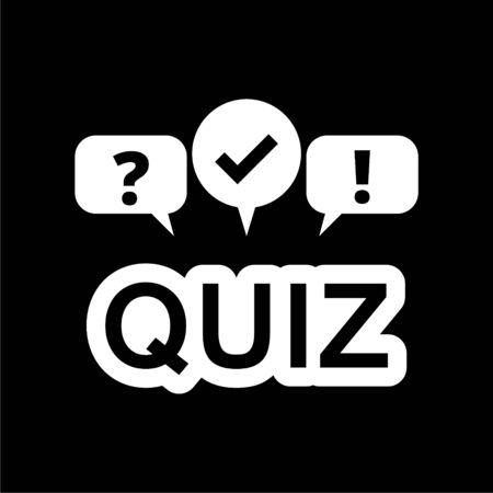 Quiz icon on dark background