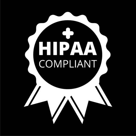 HIPAA Compliance icon on dark background