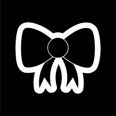 Black Bow icon on dark background