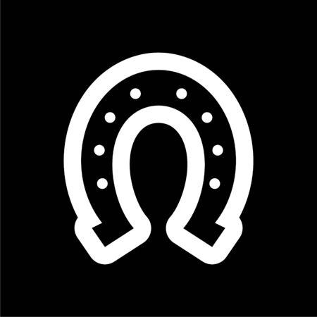 Horseshoe icon on dark background
