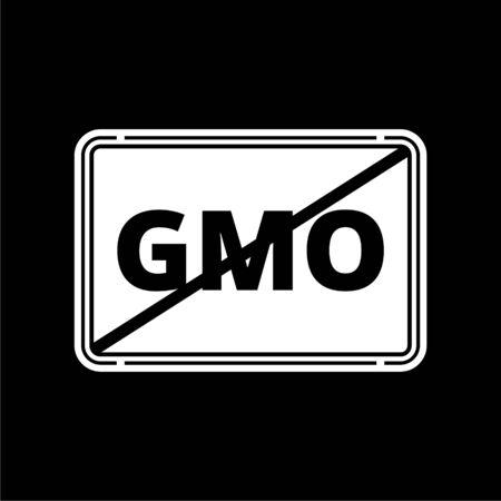 No GMO sign icon on dark background