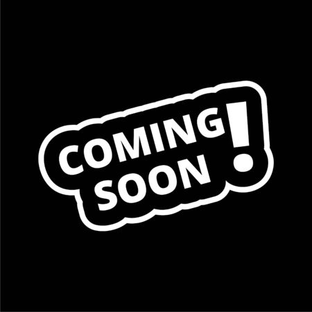 Coming Soon icon on dark background