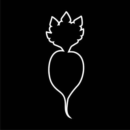 Sugar beet icon on dark background
