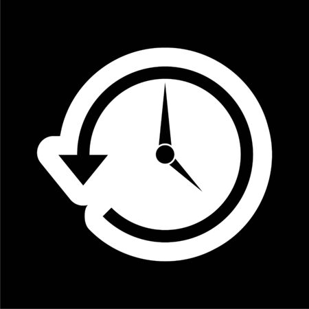 Time back icon, History icon on dark background