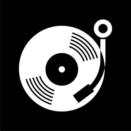 Gramophone icon on dark background