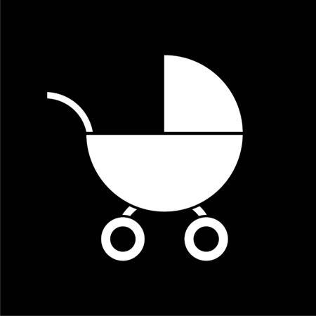 Baby Stroller icon on dark background
