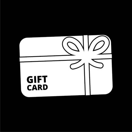 Shopping gift card icon, Gift card Icon on dark background 向量圖像