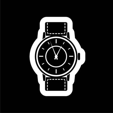 Black Watch icon on dark background Illustration