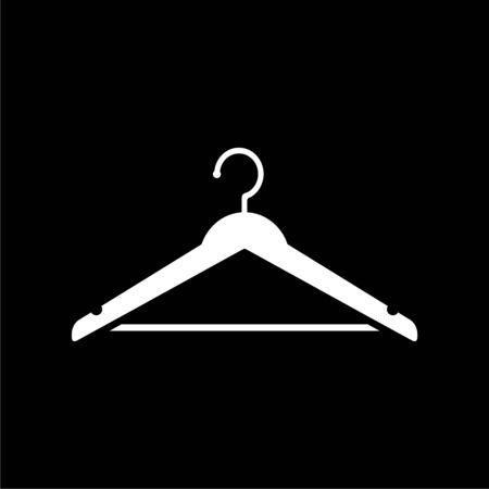 Hanger sign icon, Cloakroom symbol on dark background Illustration