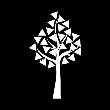 Tree symbol, Tree icon on dark background