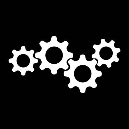 Gears icon on dark background