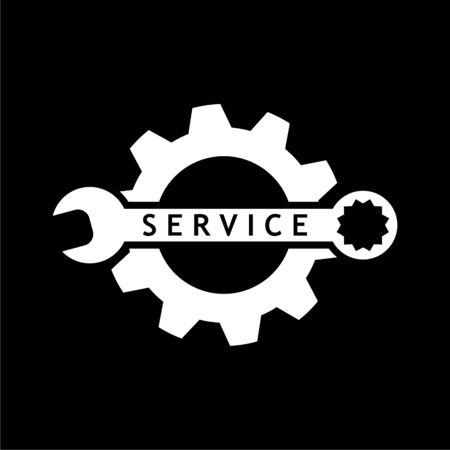 Repair tool sign icon, Service symbol on dark background