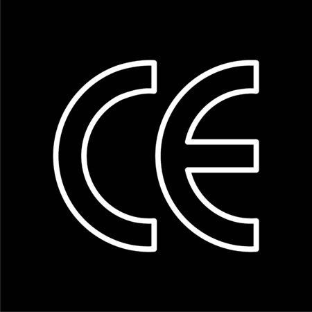 CE Mark icon on dark background