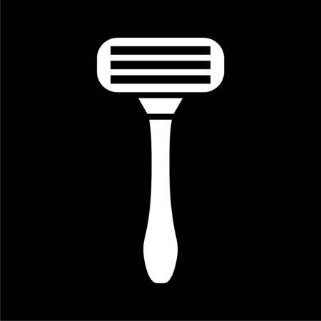 Razor icon on dark background Illustration