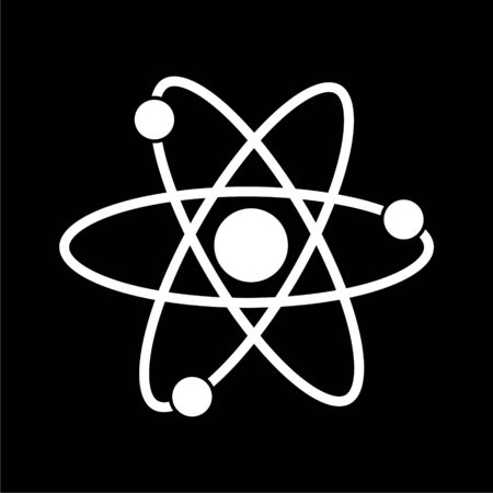 Atom icon on dark background