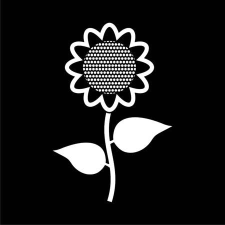 Sunflower symbol icon on dark background