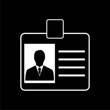 Personal id card icon, Car driver license on dark background