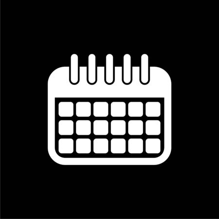 Calendar line icon on dark background Illusztráció