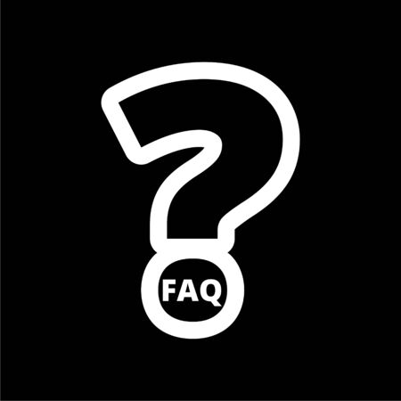 Frequently Asked Questions, FAQ icon on dark background