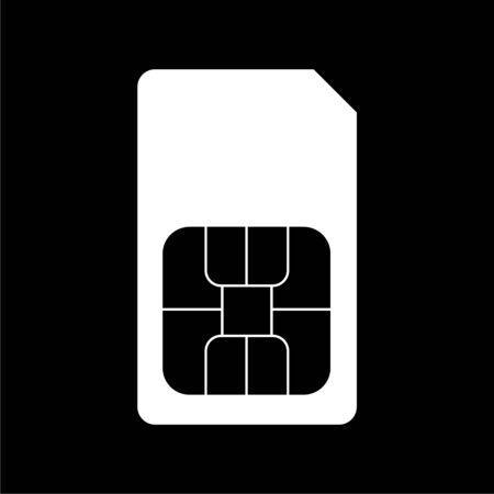 Sim card icon on dark background 일러스트