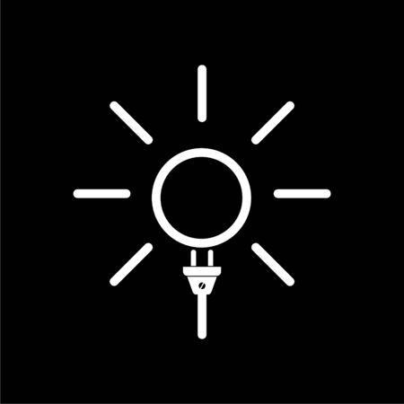 Solar energy design, Power electricity sun icon on dark background