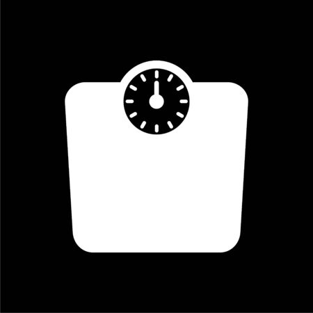 Bathroom scale, Vector bathroom scale icon on dark background