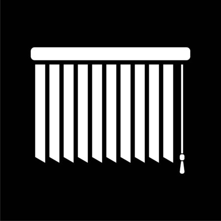 Louvers rolls icon on dark background
