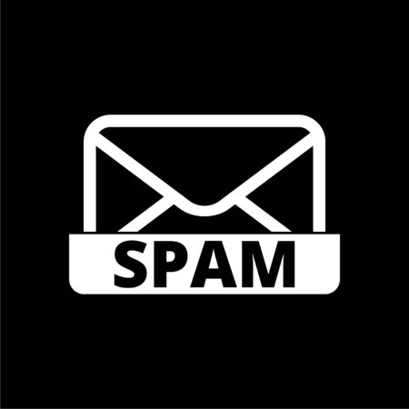 Spam icon on dark background