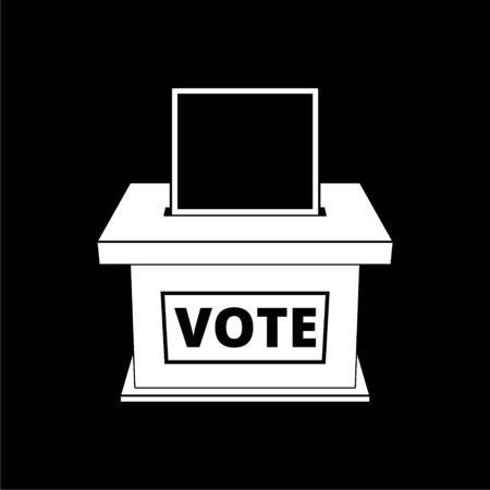 Voting concept icon, Flat style illustration of election day on dark background Illustration