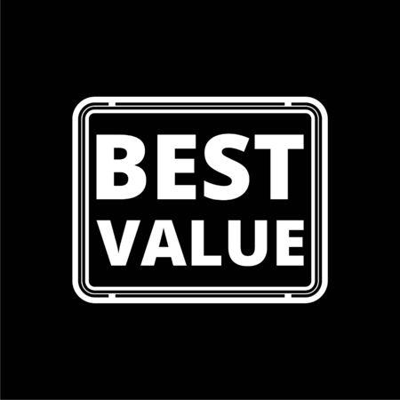 Best Value icon on dark background