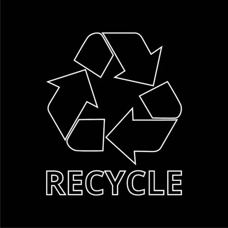 Recycle eco symbol, Recycle sign on dark background