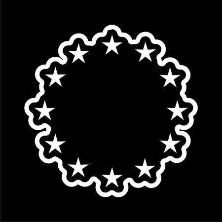European Union flag, EU flag, Star icon on dark background