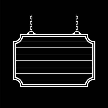 Hanging Sign icon on dark background