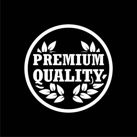 Premium quality icon, Premium quality label on dark background