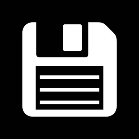 Magnetic floppy disc icon on dark background