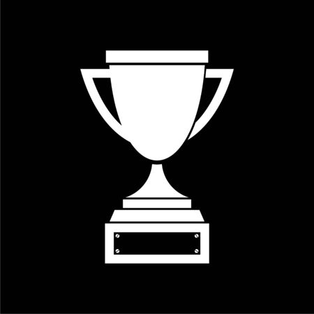 Trophy sign icon, Trophy cup, award on dark background Illusztráció