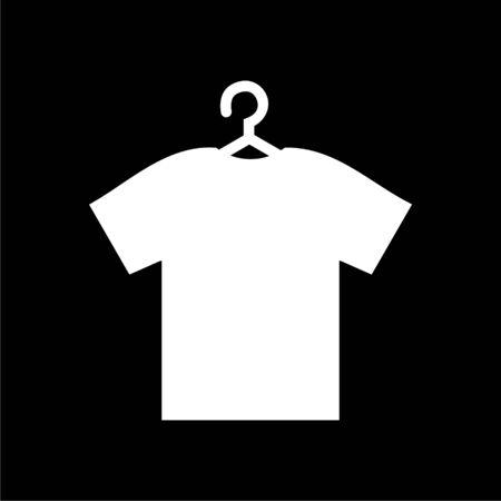T-shirt vector icon, Vector Blank Tshirt Icon Symbol on dark background Illustration