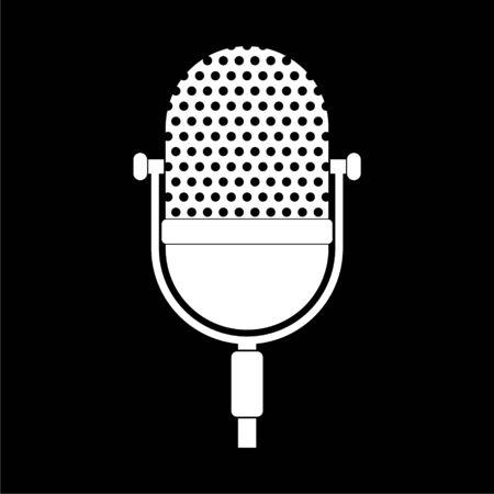 Microphone retro icon on dark background