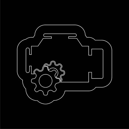 Electric motor icon on dark background