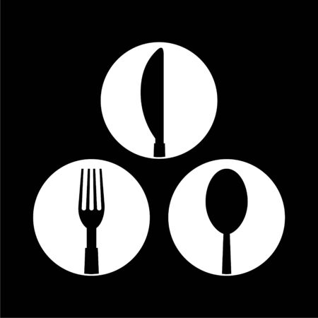 Restaurant icon on dark background