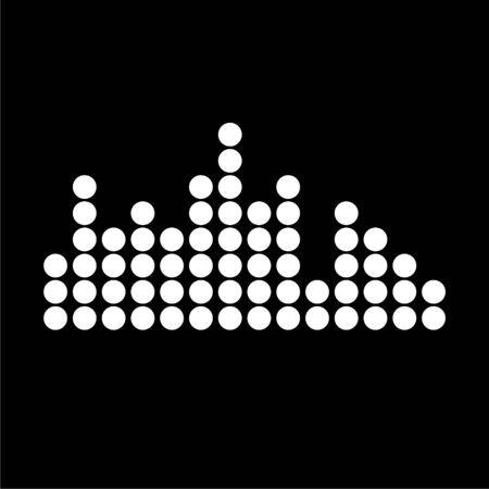 Audio wave icon on dark background