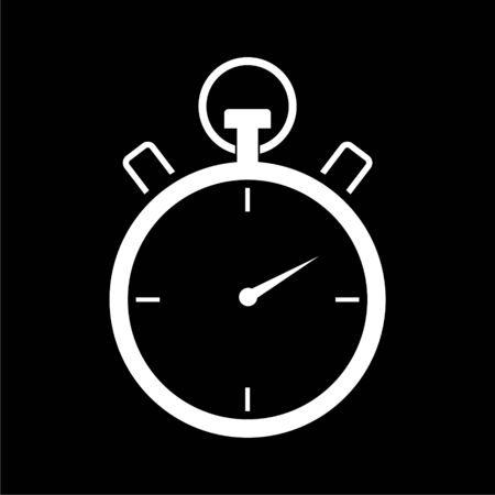 Timer icon, Stop watch icon on dark background