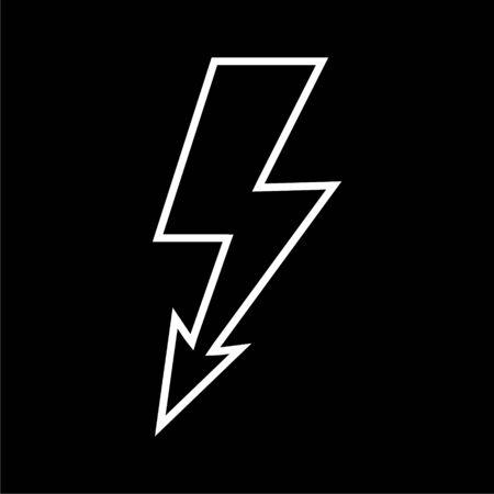 Lightning bolt icon on dark background Vectores