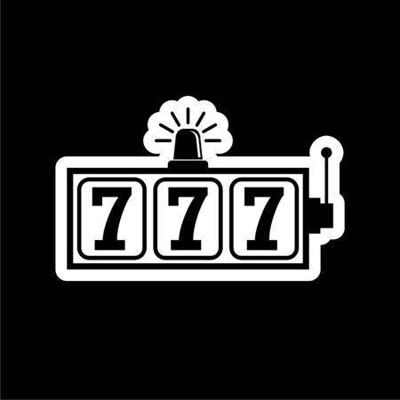 Slot Machine Jackpot icon, casino concept on dark background
