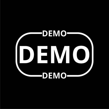 Demo icon on dark background