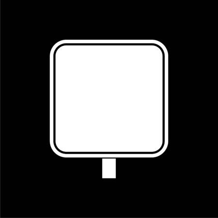 Road sign vector icon, Vector Blank Road Sign on dark background