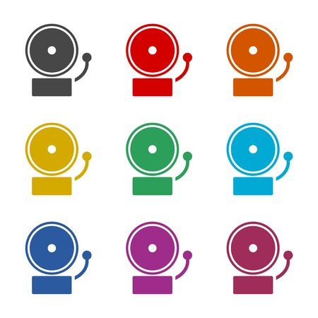 Alarm icon, Ringing bell icon, color icons set Ilustração