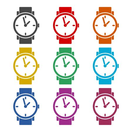 Watch icon, color icons set