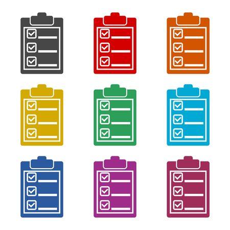Checklist icon, color icons set Ilustracja